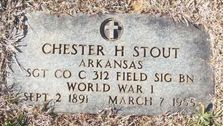 STOUT (VETERAN WWI), CHESTER H - White County, Arkansas | CHESTER H STOUT (VETERAN WWI) - Arkansas Gravestone Photos