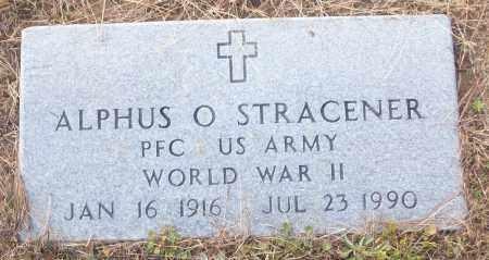 STRACENER (VETERAN WWII), ALPHUS O - White County, Arkansas | ALPHUS O STRACENER (VETERAN WWII) - Arkansas Gravestone Photos