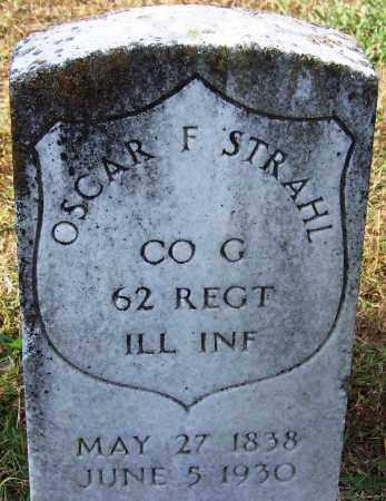 STRAHL (VETERAN UNION), OSCAR F - White County, Arkansas | OSCAR F STRAHL (VETERAN UNION) - Arkansas Gravestone Photos