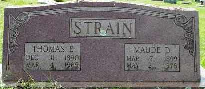 STRAIN, MAUDE D. - White County, Arkansas | MAUDE D. STRAIN - Arkansas Gravestone Photos