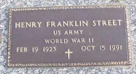 STREET (VETERAN WWII), HENRY FRANKLIN - White County, Arkansas | HENRY FRANKLIN STREET (VETERAN WWII) - Arkansas Gravestone Photos