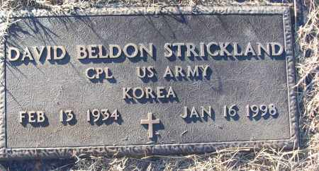 STRICKLAND (VETERAN KOR), DAVID BELDON - White County, Arkansas | DAVID BELDON STRICKLAND (VETERAN KOR) - Arkansas Gravestone Photos