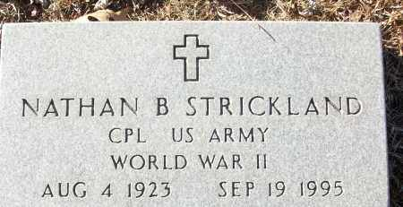 STRICKLAND (VETERAN WWII), NATHAN B - White County, Arkansas | NATHAN B STRICKLAND (VETERAN WWII) - Arkansas Gravestone Photos