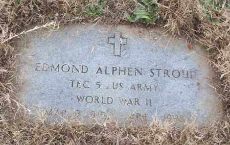 STROUD (VETERAN WWII), EDMOND ALPHEN - White County, Arkansas | EDMOND ALPHEN STROUD (VETERAN WWII) - Arkansas Gravestone Photos