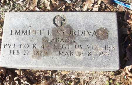 STURDIVANT (VETERAN), EMMETT L - White County, Arkansas | EMMETT L STURDIVANT (VETERAN) - Arkansas Gravestone Photos