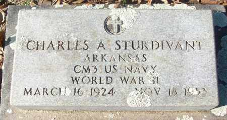 STURDIVANT (VETERAN WWII), CHARLES A - White County, Arkansas | CHARLES A STURDIVANT (VETERAN WWII) - Arkansas Gravestone Photos