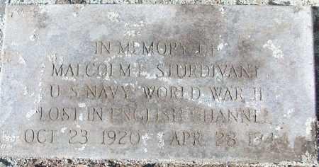 STURDIVANT (VETERAN WWII), MALCOM E - White County, Arkansas | MALCOM E STURDIVANT (VETERAN WWII) - Arkansas Gravestone Photos