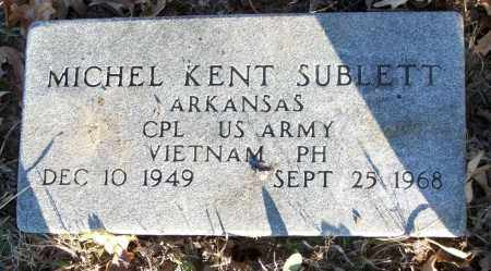 SUBLETT (VETERAN VIET, KIA), MICHEL KENT - White County, Arkansas | MICHEL KENT SUBLETT (VETERAN VIET, KIA) - Arkansas Gravestone Photos