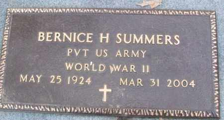 SUMMERS (VETERAN WWII), BERNICE H - White County, Arkansas | BERNICE H SUMMERS (VETERAN WWII) - Arkansas Gravestone Photos