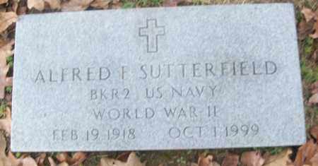 SUTTERFIELD  (VETERAN WWII), ALFRED F. - White County, Arkansas | ALFRED F. SUTTERFIELD  (VETERAN WWII) - Arkansas Gravestone Photos