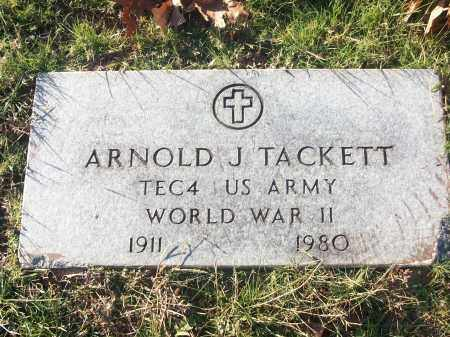 TACKETT (VETERAN WWII), ARNOLD J - White County, Arkansas | ARNOLD J TACKETT (VETERAN WWII) - Arkansas Gravestone Photos