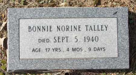 TALLEY, BONNIE NORINE - White County, Arkansas | BONNIE NORINE TALLEY - Arkansas Gravestone Photos