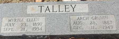 TALLEY, ARCH  GRUVIN - White County, Arkansas | ARCH  GRUVIN TALLEY - Arkansas Gravestone Photos