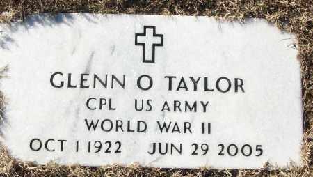 TAYLOR (VETERAN WWII), GLENN O - White County, Arkansas | GLENN O TAYLOR (VETERAN WWII) - Arkansas Gravestone Photos