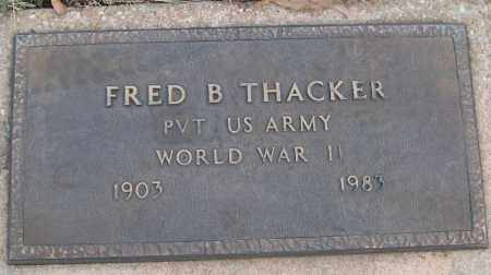 THACKER (VETERAN WWII), FRED B - White County, Arkansas | FRED B THACKER (VETERAN WWII) - Arkansas Gravestone Photos
