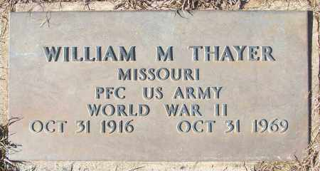 THAYER (VETERAN WWII), WILLIAM M - White County, Arkansas | WILLIAM M THAYER (VETERAN WWII) - Arkansas Gravestone Photos