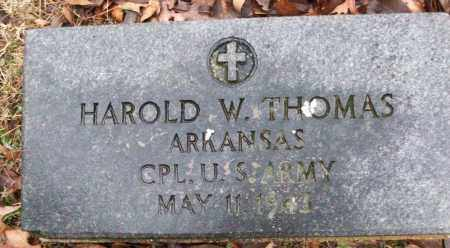 THOMAS (VETERAN), HAROLD W - White County, Arkansas | HAROLD W THOMAS (VETERAN) - Arkansas Gravestone Photos