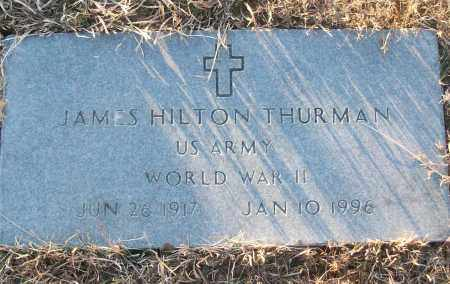 THURMAN (VETERAN WWII), JAMES HILTON - White County, Arkansas | JAMES HILTON THURMAN (VETERAN WWII) - Arkansas Gravestone Photos