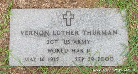 THURMAN (VETERAN WWII), VERNON LUTHER - White County, Arkansas | VERNON LUTHER THURMAN (VETERAN WWII) - Arkansas Gravestone Photos