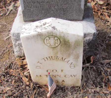 THURMAND (VETERAN CSA), D T - White County, Arkansas   D T THURMAND (VETERAN CSA) - Arkansas Gravestone Photos
