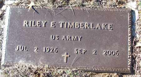 TIMBERLAKE (VETERAN), RILEY E - White County, Arkansas | RILEY E TIMBERLAKE (VETERAN) - Arkansas Gravestone Photos