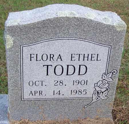TODD, FLORA ETHEL - White County, Arkansas | FLORA ETHEL TODD - Arkansas Gravestone Photos