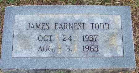 TODD, JAMES EARNEST - White County, Arkansas | JAMES EARNEST TODD - Arkansas Gravestone Photos