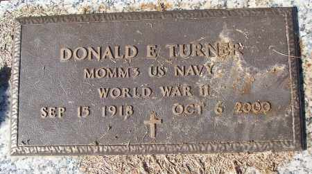 TURNER (VETERAN WWII), DONALD E - White County, Arkansas | DONALD E TURNER (VETERAN WWII) - Arkansas Gravestone Photos
