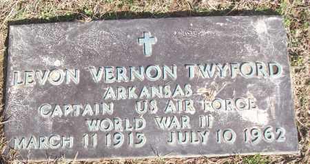 TWYFORD (VETERAN WWII), LEVON VERNON - White County, Arkansas | LEVON VERNON TWYFORD (VETERAN WWII) - Arkansas Gravestone Photos
