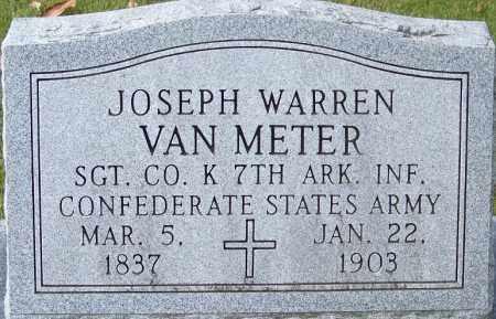 VAN METER (VETERAN CSA), JOSEPH WARREN - White County, Arkansas   JOSEPH WARREN VAN METER (VETERAN CSA) - Arkansas Gravestone Photos