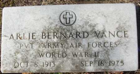 VANCE (VETERAN WWII), ARLIE BERNARD - White County, Arkansas | ARLIE BERNARD VANCE (VETERAN WWII) - Arkansas Gravestone Photos