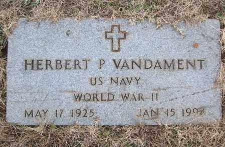 VANDAMENT (VETERAN WWII), HERBERT P - White County, Arkansas | HERBERT P VANDAMENT (VETERAN WWII) - Arkansas Gravestone Photos