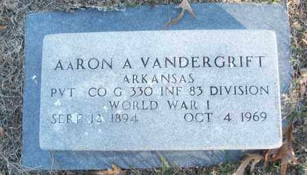 VANDERGRIFT (VETERAN WWI), AARON A - White County, Arkansas | AARON A VANDERGRIFT (VETERAN WWI) - Arkansas Gravestone Photos