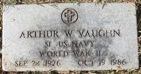 VAUGHN (VETERAN WWII), ARTHUR W - White County, Arkansas | ARTHUR W VAUGHN (VETERAN WWII) - Arkansas Gravestone Photos