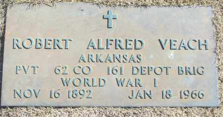 VEACH (VETERAN WWI), ROBERT ALFRED - White County, Arkansas | ROBERT ALFRED VEACH (VETERAN WWI) - Arkansas Gravestone Photos