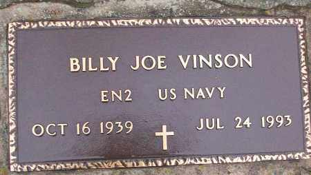 VINSON (VETERAN), BILLY JOE - White County, Arkansas | BILLY JOE VINSON (VETERAN) - Arkansas Gravestone Photos
