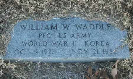 WADDLE (VETERAN 2 WARS), WILLIAM W - White County, Arkansas | WILLIAM W WADDLE (VETERAN 2 WARS) - Arkansas Gravestone Photos