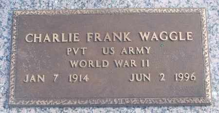 WAGGLE (VETERAN WWII), CHARLIE FRANK - White County, Arkansas | CHARLIE FRANK WAGGLE (VETERAN WWII) - Arkansas Gravestone Photos