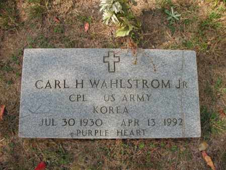 WAHLSTROM, JR. (VETERAN KOR), CARL H - White County, Arkansas | CARL H WAHLSTROM, JR. (VETERAN KOR) - Arkansas Gravestone Photos