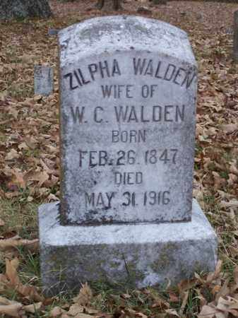 WALDEN, ZILPHA - White County, Arkansas | ZILPHA WALDEN - Arkansas Gravestone Photos