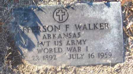 WALKER (VETERAN WWI), JEFFERSON F - White County, Arkansas | JEFFERSON F WALKER (VETERAN WWI) - Arkansas Gravestone Photos