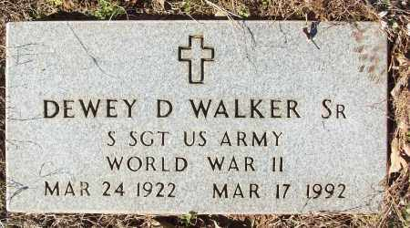 WALKER, SR (VETERAN WWII), DEWEY D - White County, Arkansas | DEWEY D WALKER, SR (VETERAN WWII) - Arkansas Gravestone Photos