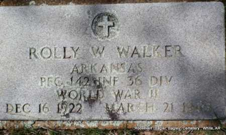WALKER (VETERAN WWII), ROLLY W - White County, Arkansas | ROLLY W WALKER (VETERAN WWII) - Arkansas Gravestone Photos