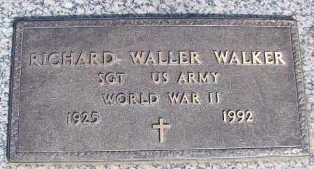WALKER (VETERAN WWII), RICHARD WALLER - White County, Arkansas | RICHARD WALLER WALKER (VETERAN WWII) - Arkansas Gravestone Photos