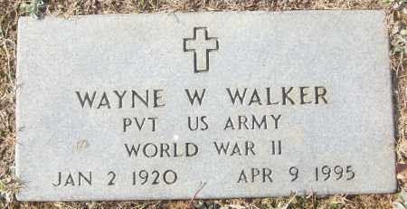 WALKER (VETERAN WWII), WAYNE W - White County, Arkansas | WAYNE W WALKER (VETERAN WWII) - Arkansas Gravestone Photos