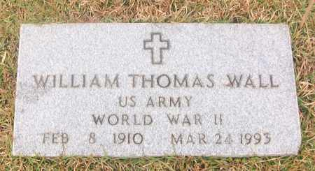 WALL  (VETERAN WWII), WILLIAM THOMAS - White County, Arkansas | WILLIAM THOMAS WALL  (VETERAN WWII) - Arkansas Gravestone Photos