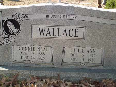 WALLACE, JOHNNIE NEAL - White County, Arkansas | JOHNNIE NEAL WALLACE - Arkansas Gravestone Photos