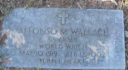 WALLACE (VETERAN WWII), ALFONSO M - White County, Arkansas | ALFONSO M WALLACE (VETERAN WWII) - Arkansas Gravestone Photos