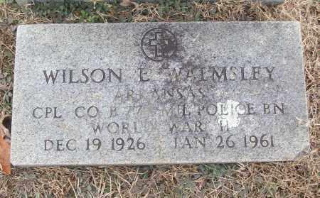 WALMSLEY (VETERAN WWII), WILSON E - White County, Arkansas | WILSON E WALMSLEY (VETERAN WWII) - Arkansas Gravestone Photos