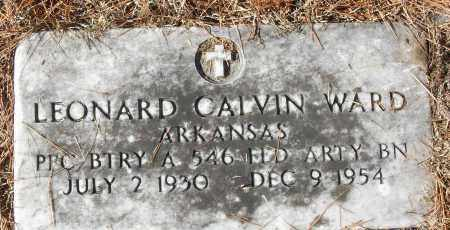 WARD (VETERAN), LEONARD CALVIN - White County, Arkansas | LEONARD CALVIN WARD (VETERAN) - Arkansas Gravestone Photos